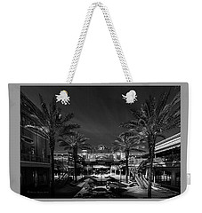 Weekender Tote Bag featuring the photograph Centro Ybor Bw by Marvin Spates
