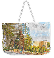 Century Park East And Santa Monica Blvd. In Century City, California Weekender Tote Bag