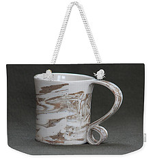 Ceramic Marbled Clay Cup Weekender Tote Bag by Suzanne Gaff