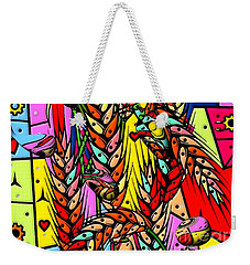 Weekender Tote Bag featuring the digital art Cereals Popart Drops By Nico Bielow by Nico Bielow