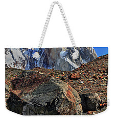 Weekender Tote Bag featuring the photograph Cerro Torre 12 by Bernardo Galmarini
