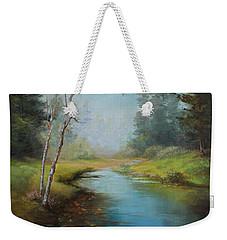 Cerulean Blue Stream Weekender Tote Bag