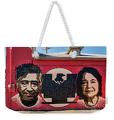 Weekender Tote Bag featuring the photograph Cesar Chavez And Dolores Huerta Mural - Utah by Gary Whitton
