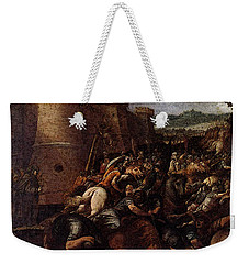 Cesari Giuseppe St Clare With The Scene Of The Siege Of Assisi Weekender Tote Bag by Giuseppe Cesari