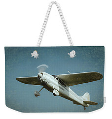Weekender Tote Bag featuring the photograph Cessna 195 by James Barber