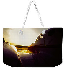 Cessna 421c Golden Eagle IIi Silhouette Weekender Tote Bag