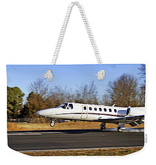 Cessna Citation Touchdown Weekender Tote Bag by Jason Politte