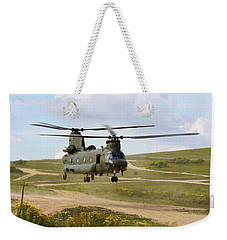 Ch47 Chinook In The Dust Bowl Weekender Tote Bag