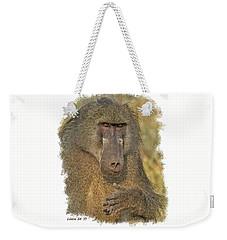 Chacma Baboon Weekender Tote Bag