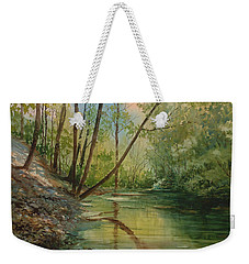 Chagrin River In Spring Weekender Tote Bag