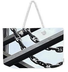 Chain Links Weekender Tote Bag