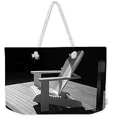 Chair In Black And White Weekender Tote Bag by Nareeta Martin