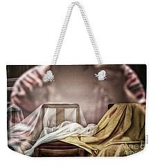 Weekender Tote Bag featuring the photograph Chair In Veil by Craig J Satterlee