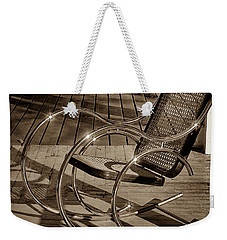 Weekender Tote Bag featuring the photograph Chair by Samuel M Purvis III