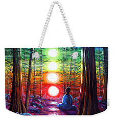 Chakra Meditation In The Redwoods Weekender Tote Bag