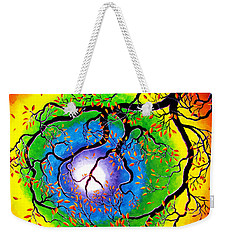 Chakra Peace Tree Meditation Weekender Tote Bag by Laura Iverson