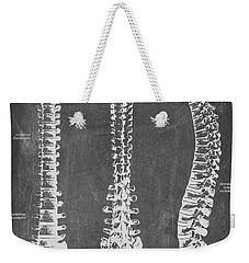 Chalkboard Anatomical Spines Weekender Tote Bag