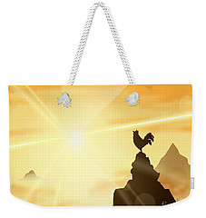 Challenge The Sun Weekender Tote Bag
