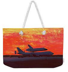 Challenger 1984 Kelly Afb Weekender Tote Bag by M Diane Bonaparte