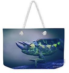Weekender Tote Bag featuring the photograph Chamaeleo Jacksonii by Sharon Mau