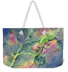 Chameleon Weekender Tote Bag by Amy Kirkpatrick
