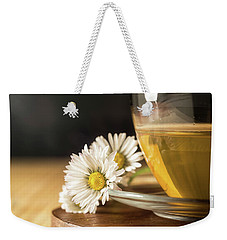 Weekender Tote Bag featuring the photograph Chamomile by Traven Milovich