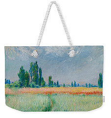 Champ De Ble Weekender Tote Bag by Claude Monet