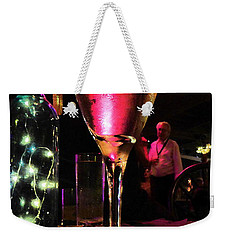 Weekender Tote Bag featuring the photograph Champagne And Jazz by Lori Seaman