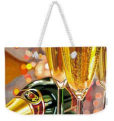 Champagne Wishes Weekender Tote Bag
