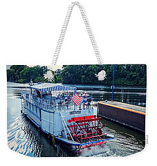 Weekender Tote Bag featuring the photograph Champlain Canal Patriot by Kendall McKernon