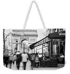Weekender Tote Bag featuring the photograph Champs Elysees And Arc Triomphe - Paris by Barry O Carroll