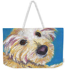 Weekender Tote Bag featuring the painting Chance by Jamie Frier