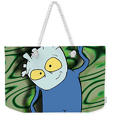 Weekender Tote Bag featuring the drawing Chane by Uncle J's Monsters