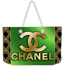 Weekender Tote Bag featuring the digital art Chanel - Chuck Staley by Chuck Staley