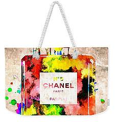 Chanel No 5 Grunge Weekender Tote Bag