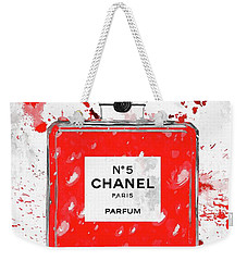Chanel No 5 Red Weekender Tote Bag