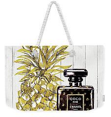 Chanel  Noir Perfume With Pineapple Weekender Tote Bag by Del Art