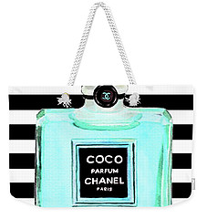 Chanel Perfume Turquoise Chanel Poster Chanel Print Weekender Tote Bag