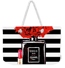 Chanel Poster Chanel Print Chanel Perfume Print Chanel With Red Hydragenia 3 Weekender Tote Bag