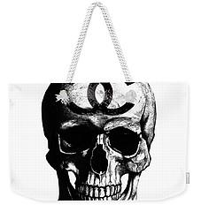 Chanel Skull Black Weekender Tote Bag