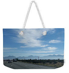 Changing Lanes On A Desert Highway Weekender Tote Bag