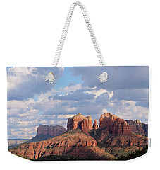 Weekender Tote Bag featuring the photograph Changling Light - Cathedral Rock by Patricia Davidson