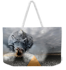 Weekender Tote Bag featuring the digital art Chaos by Alex Grichenko