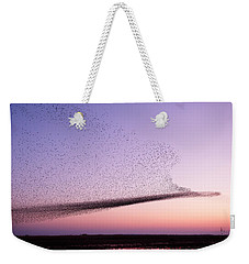Chaos In Motion - Starling Murmuration Weekender Tote Bag by Roeselien Raimond