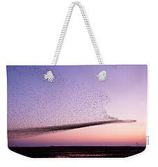 Chaos In Motion - Starling Murmuration Weekender Tote Bag
