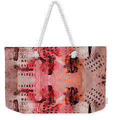 Chaos Numbers And Letters Weekender Tote Bag
