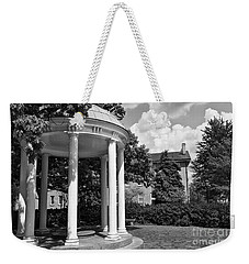 Chapel Hill Old Well In Black And White Weekender Tote Bag