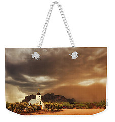 Weekender Tote Bag featuring the photograph Chapel In The Storm by Rick Furmanek