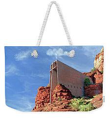 Weekender Tote Bag featuring the digital art Chapel Of The Holy Cross by Kai Saarto
