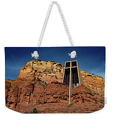 Chapel Of The Holy Cross Weekender Tote Bag by Ron White